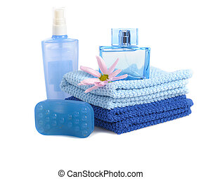 blue toiletries