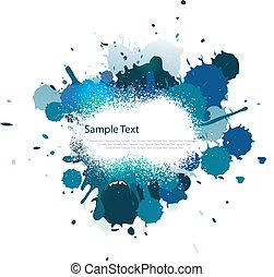 Blue tone color splash