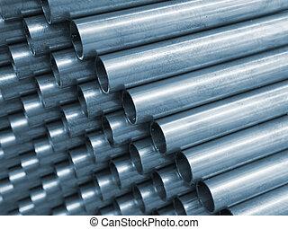 Blue Tone Steel Pipe