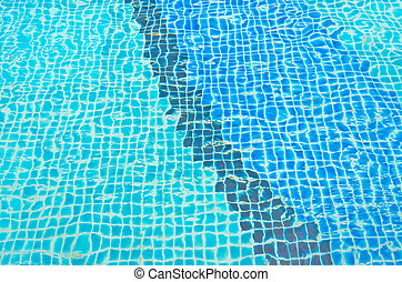 blue tone tile in water