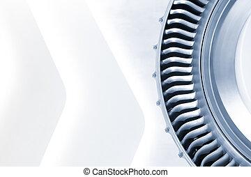 blue toned jet engine