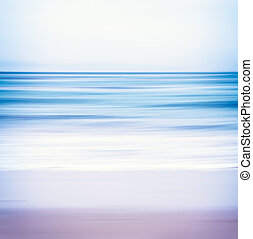 Blue Toned Seascape - An abstract ocean seascape with...