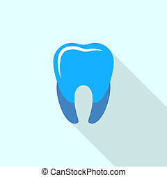 Blue tooth logo icon, flat style