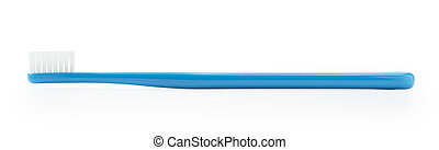 Blue toothbrush on a white background