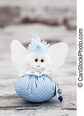 Blue Toy for Boy Prepared as a Gift for Baby Shower