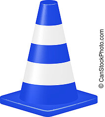 Blue traffic cone