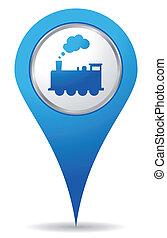 train location - blue train location icon for maps