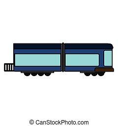 blue train wagon rail