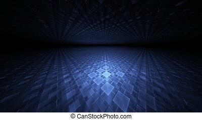 Blue Translucent Cubical Horizon