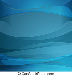 Blue Transparency Wave Background