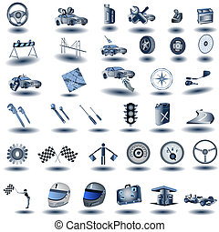 Blue Transport Icons