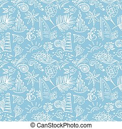 Blue travel pattern