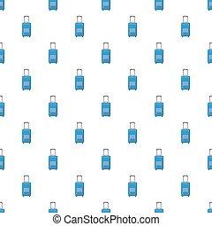 Blue travel suitcase pattern