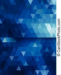 Blue triangle background diamond shape