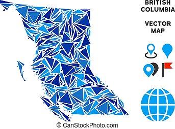 Blue Triangle British Columbia Province Map