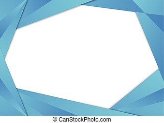 Blue triangle frame border