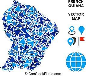 Blue Triangle French Guiana Map