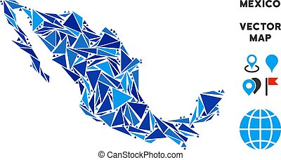 Blue Triangle Mexico Map