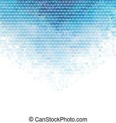Blue triangle mosaic background