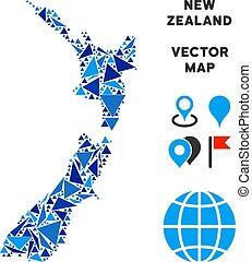 Blue Triangle New Zealand Map