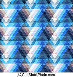 Blue triangle seamless pattern.