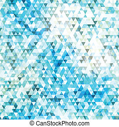 blue triangle seamless texture with grunge effect