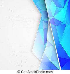 Blue triangles on white background. illustration.