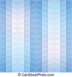 Blue triangles striped pattern