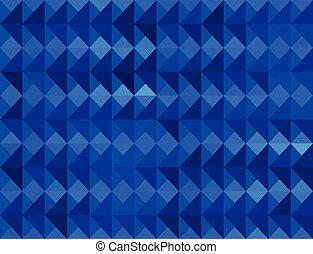 blue triangular pattern gradient background.
