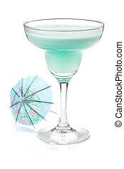 Blue tropical cocktail