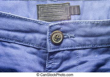 Blue trouser jeans front