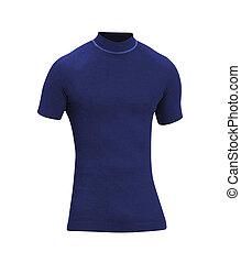Blue Tshirt isolated on white background