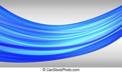 Blue tube in motion