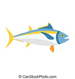 Blue Tuna Fish Icon
