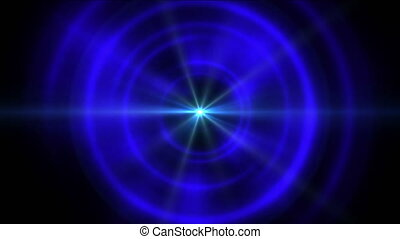 blue tunnel abstract star