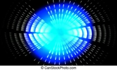 blue tunnel and light in space