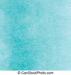 Blue turquoise watercolour artistic background design. ...