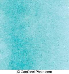 Blue turquoise watercolour artistic background design....
