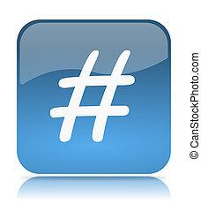 Blue Tweet App Icon Illustration on White Background