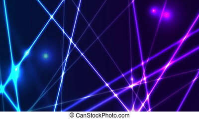 Blue ultraviolet neon glowing lines hi-tech abstract futuristic motion background. Seamless looping. Video animation Ultra HD 4K 3840x2160