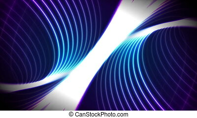 Blue ultraviolet neon laser waves concept technology background. Glowing illumination futuristic motion design. Seamless looping. Video animation Ultra HD 4K 3840x2160