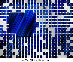 Blue Under Metal Grid