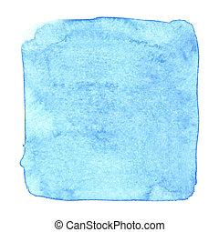 Blue uneven watercolor square