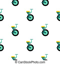 Blue unicycle pattern seamless