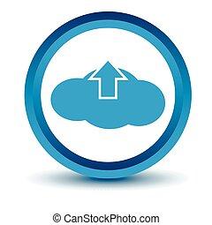 Blue upload cloud icon