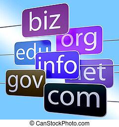 Blue Url Words Shows Org Biz Com Edu - Blue Url Words...