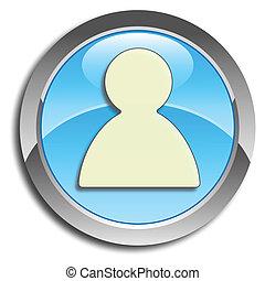 Blue user button
