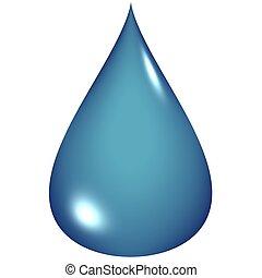 blue víz, csepp