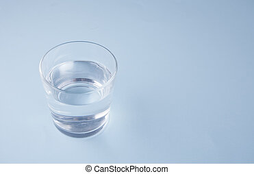 blue víz, háttér, pohár