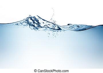 blue víz, lenget, és, panama, to jó, ivóvíz